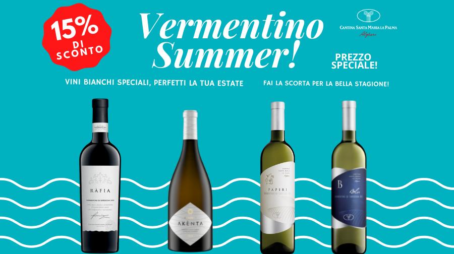 VERMENTINO SUMMER! 15% di sconto sui tuoi vini per l'estate